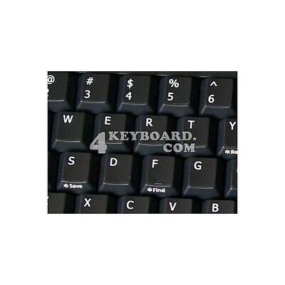 Replacement English Us Keyboard Sticker Black