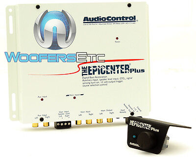 Audiocontrol Epicenter Plus White Bass Enhancer W Aux For Aftermarket System New