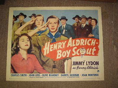 Henry Aldrich Boy Scout movie poster, 28 by 22   kp