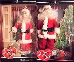 LOT OF 2 I Love Lucy Barbie Christmas Show Lucy & Ricky