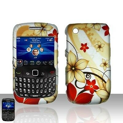 Red Flowers Hard Case Cover for BlackBerry Curve 8530