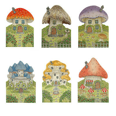 150 Fairy Mushroom House Die-cut & Blank inside Gift Cards EG0011