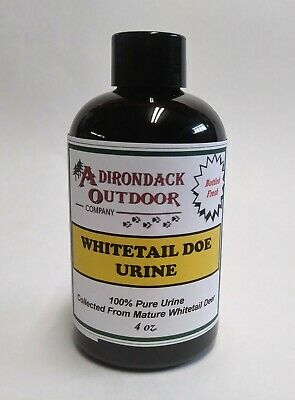 Pure fresh WHITETAIL DOE URINE 4 oz- deer scent buck lure archery hunting