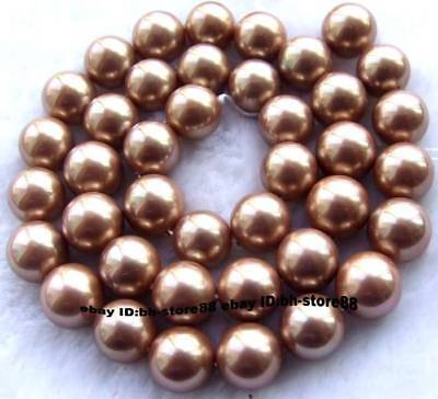 10mm new Pearl Shell Round Gemstone Beads 15''