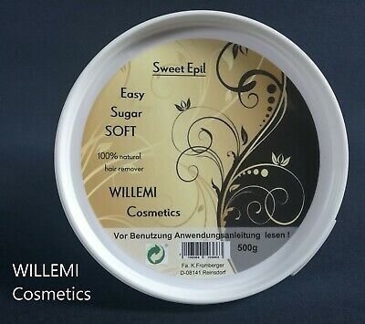 WILLEMI Haarentfernung EASY SUGAR SOFT Zuckerpaste 500g