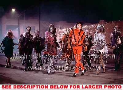 MICHAEL JACKSON THRILLER IN ACTION (1) RARE 8x10 PHOTO