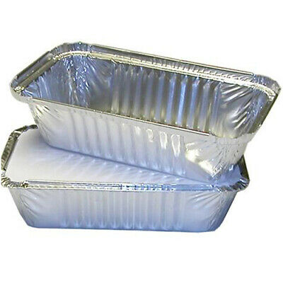 500 No6a LARGE ALUMINIUM FOIL FOOD CONTAINERS + LIDS