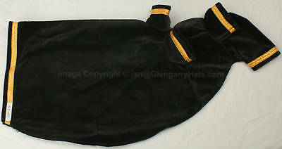EBBC # 5 Black Velvet / Gold Braid Pipe Bag Cover