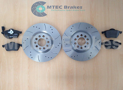 VW Golf Mk4 1.8T GTi 180bhp with 312mm Front Drilled Grooved Brake Discs & Pads