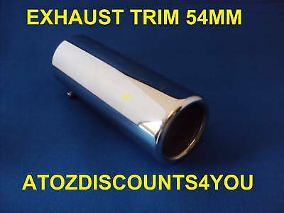 Universal Chrome Exhaust trim to fit exhausts up to  54 MM STRAIGHT Tail Pipe