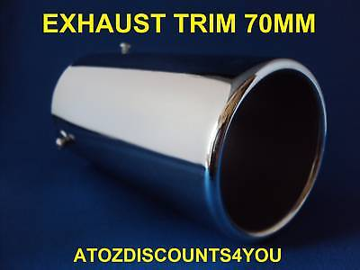 Universal Chrome Exhaust 70MM STRAIGHT Tail Pipe Trim