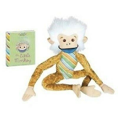 Little Monkey 11 inch with Book plush, NEW by YoTToY