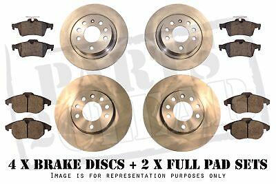 VW BORA FRONT AND REAR BRAKE DISCS + PADS SET FULL KIT NEW 97-04 1.9 TDi