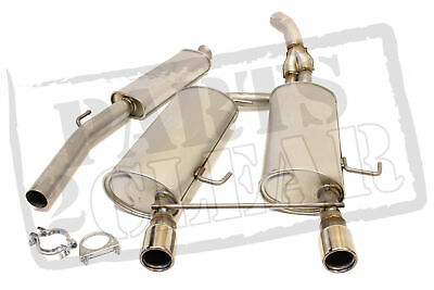 Renault Clio 2.0 182 Centre & Rear Exhaust Silencer Twin Back Box + Clamps 03-