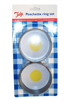 Tala Metal Poachette Egg Crumpet Ring Pack of two  9322