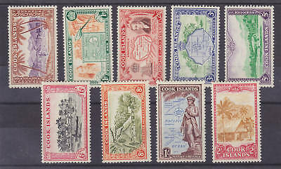 Cook Islands Sc 131-39 MLH. 1949 Bicolors, F-VF