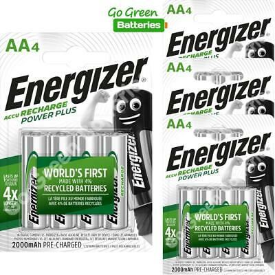 16 x Energizer AA 2000 mAh Rechargeable Power Plus Batteries NiMH HR6 MN1500 RTU