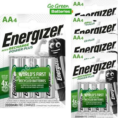 20 x Energizer AA 2000 mAh Rechargeable Power Plus Batteries NiMH HR6 MN1500 RTU