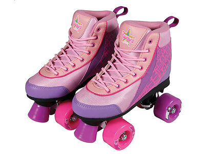 Roller Skates Size 7 Pink/Purple Boot with Pink Wheels By Kandy - FREE SHIPPING