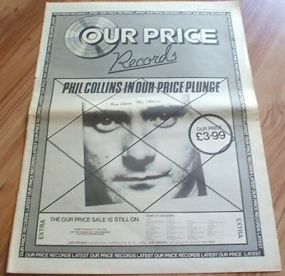 Phil Collins-1981 poster size press advert