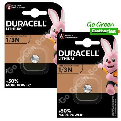 2 x Duracell 1/3N 3V Lithium Batteries DL1/3 N CR1/3N CR1-3N 2L76 - 2024 Expiry