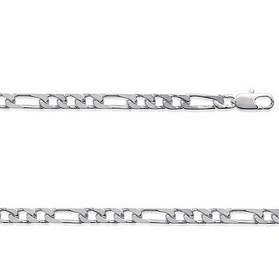 Chaine HOMME Argent FIGARO 1-3  60 cm Largeur 5 mm NEUF