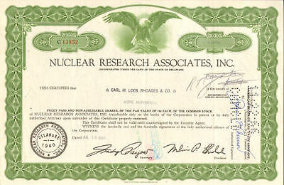 NUCLEAR RESEARCH > power stock certificate share