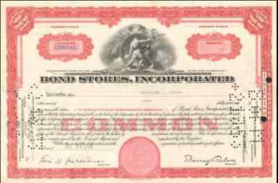 Bond Stores > lot of 2 stock certificates > DC Maryland