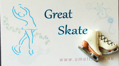 GREAT SKATE  IN BLUE  ACRYLIC SKATE PIN WITH TAG 10 pak
