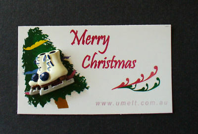 Merry Christmas  Acrylic Skate Pin With Tag 10 Pack