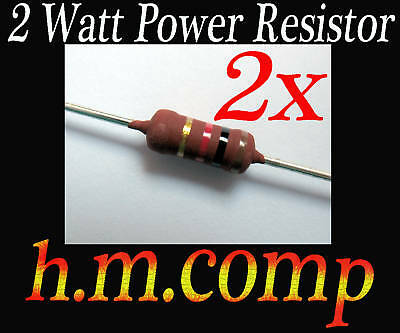 3.3K Ohm  2W  Metal Film Power Resistor  Watt 3k3 W 2 x