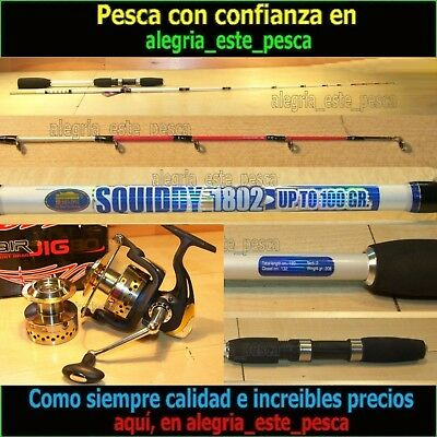 PESCA EQUIPO JIGGING (SQUIDDY 1.80mts + AIR JIG 80)
