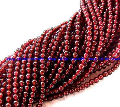 AA 4mm natural red garnet Round Small Gemstone Beads 15