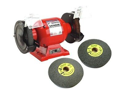 "SEALEY 6"" Bench Grinder with Grindstones and 2 Deburring Wheels ideal for Alloy"