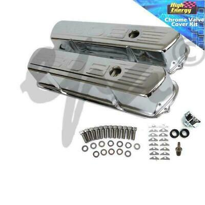 Holden Chrome 308 Logo Tall Rocker Covers With Pcv Set