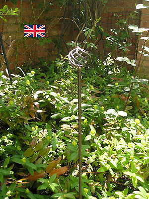 Handcrafted Metal Garden Plant Support Stakes - Heavy Duty Supports
