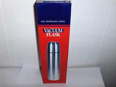 Stainless Steel 18/8 Vacum Flask`8 Tall-Thermos`New In Box-Free To US