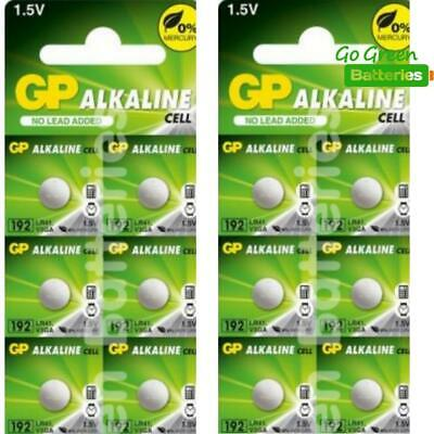 12 x GP LR41 192 1.5V Batteries GP192 AG3 392 SR41