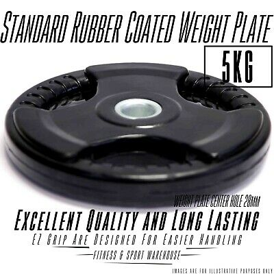 5KG Weight Plate/Plates Standard Rubber Coated,EZ grip