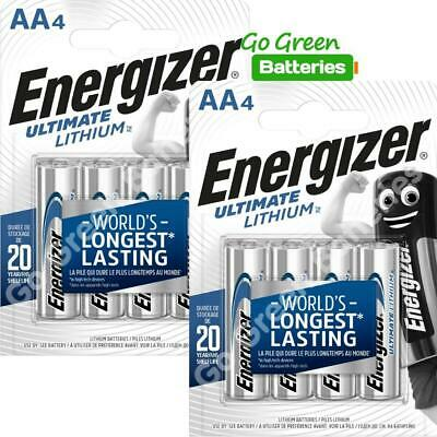 8 x Energizer AA ULTIMATE Lithium Batteries 1.5v LR6 L91 Digital Camera 2036 exp