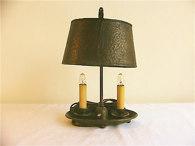 One of a Kind Arts & Crafts Hammered Copper Lamp c. 1900-1940