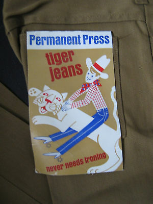 NOS VTG 60s TEEN DEADSTOCK TAPERED TIGER JEANS PANTS  26x25  RN19938