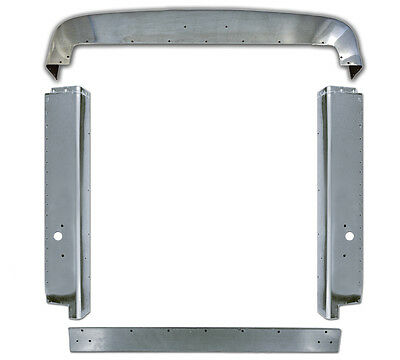 Peterbilt 379 Extended Hood Stainless Steel Grill Surround