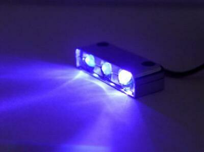 3 LED PURPLE Motorcycle & Car Lights Neon FX CHROME