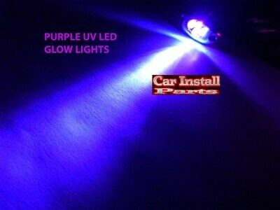 4-LED PURPLE UV Motorcycle & Car Lights Neon FX CHROME