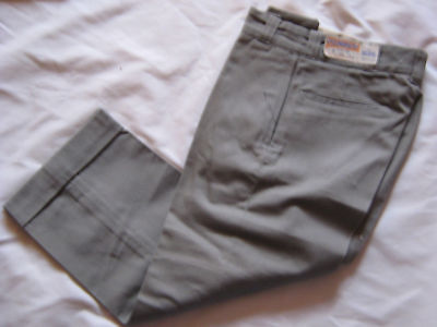 NOS VTG 50s DEADSTOCK BOYS TAPERED CUFF CHINOS PANTS  23x22 OLD KENTUCKY USA RAB