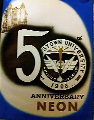 """1958 YOUNGSTOWN University  YEARBOOK  """"NEON""""~ 50th anniversary pics!"""