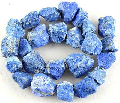 Frosting 10-15mm Rough Natural Lapis Lazuli baroque Gemstone Beads 15''