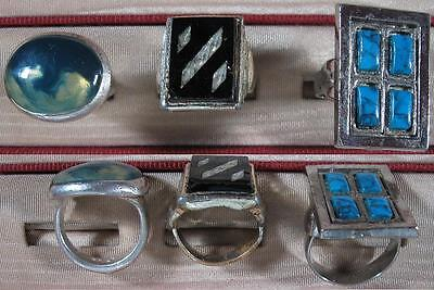 Vintage Lot of 3 Rings~Size 5 ½ & Adjustable~Silvertone