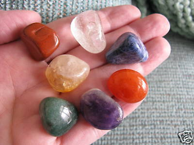 New Chakra Crystal Healing Stone Natural Gemstone Set Of 7 W/bag